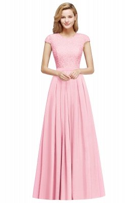 Adah | Günstige Dark Navy Rundhals Cap Sleeve Lace Formal Dress, Pink, Dunkelgrün_2