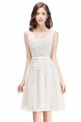 ADDILYNN | Платье выпускного вечера из тюля длиной до колена с аппликациями_1
