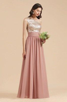 Стильное шифоновое вечернее платье на одно плечо с блестками и пайетками Aline_6