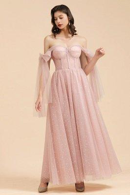 Superbe robe de soirée à manches bouffantes scintillante Aline robe de soirée en mousseline de soie longueur de plancher robe de bal_6