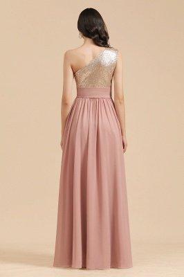 Стильное шифоновое вечернее платье на одно плечо с блестками и пайетками Aline_3