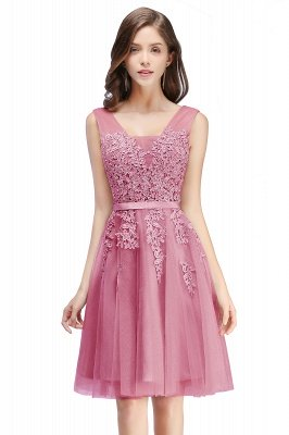 ADDILYNN | Платье выпускного вечера из тюля длиной до колена с аппликациями_3