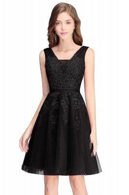 ADDILYNN | Платье выпускного вечера из тюля длиной до колена с аппликациями_7
