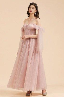 Superbe robe de soirée à manches bouffantes scintillante Aline robe de soirée en mousseline de soie longueur de plancher robe de bal_4