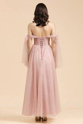 Superbe robe de soirée à manches bouffantes scintillante Aline robe de soirée en mousseline de soie longueur de plancher robe de bal_2