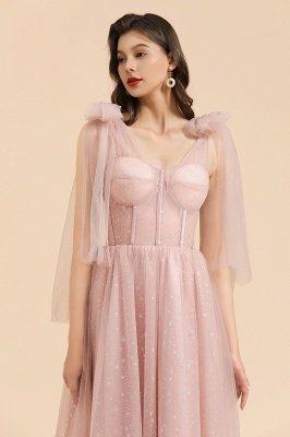 Superbe robe de soirée à manches bouffantes scintillante Aline robe de soirée en mousseline de soie longueur de plancher robe de bal_9
