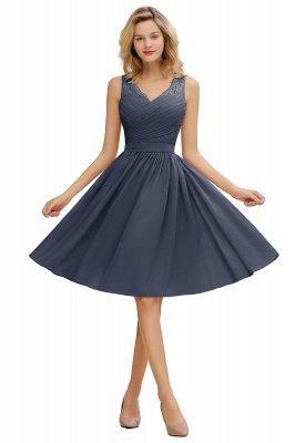 Кружевное длинное короткое платье с V-образным вырезом с поясом | Сексуальное коктейльное платье без рукавов с V-образным вырезом без рукавов_5