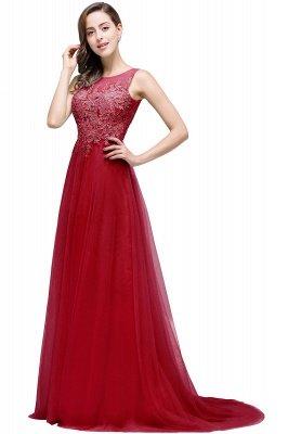 ABRIL | Une ligne de train de tulle robe de soirée avec des appliques_4