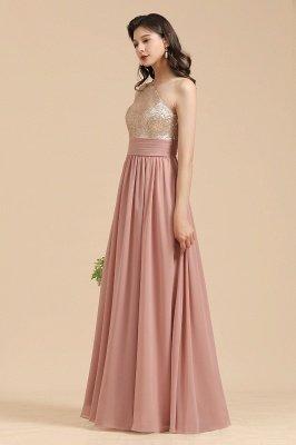 Стильное шифоновое вечернее платье на одно плечо с блестками и пайетками Aline_8