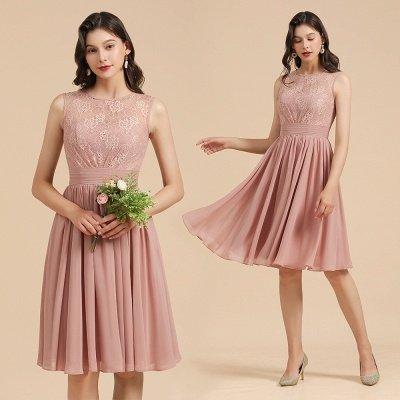 Элегантное кружевное платье для встречи выпускников без рукавов с круглым вырезом, короткое коктейльное платье_10