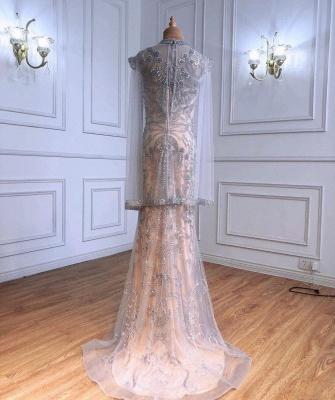 Роскошное блестящее вечернее платье с пайетками и бусинами, длинное вечернее платье с длинным рукавом_2