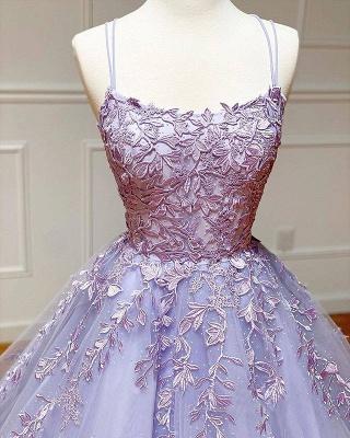 Vestido de noite Aline com alças de espaguete floral vestido de noite vestido de baile sem mangas_5