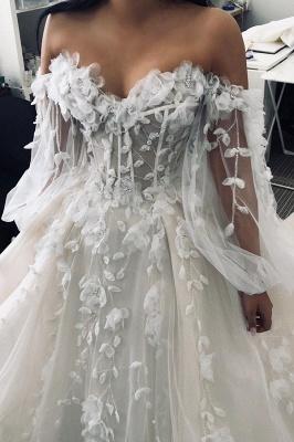 Сексуальное свадебное платье без рукавов в форме сердца, белое кружевное свадебное платье с цветочным рисунком 3D_4