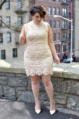Plus Size Ärmelloses Floral Lace Short Partykleid Tägliches Freizeitkleid