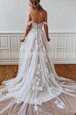 Свадебное платье из кружева с цветочным рисунком и бретельками в форме сердца 3D_2