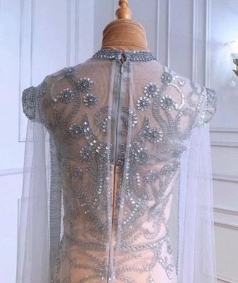 Роскошное блестящее вечернее платье с пайетками и бусинами, длинное вечернее платье с длинным рукавом_4