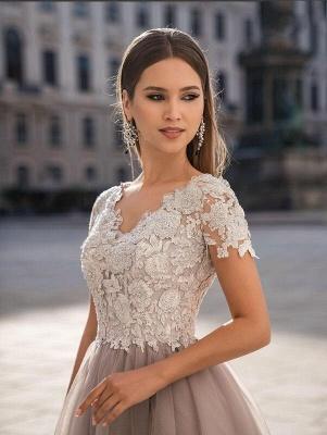 Stylish Cap Sleeves Tulle Short Formal Dress Daily Wear Midi Dress_4