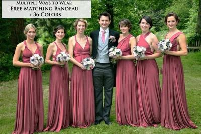 Multiway Ways Bridesmaid Dress Aline Wedding Party Dress_2