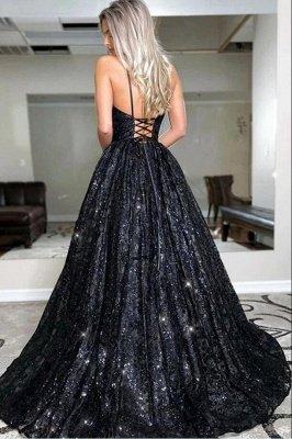 Блестящее черное вечернее платье с пайетками Aline Платье для вечеринки в форме сердца_2