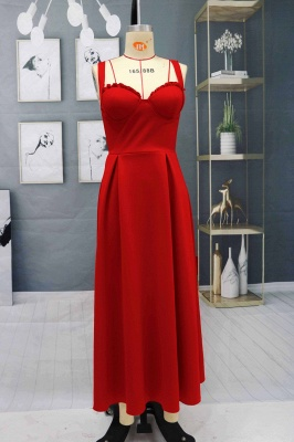 Charming Sleveless Red Homecoming Dress Sweetheart Evening Party Dress_6