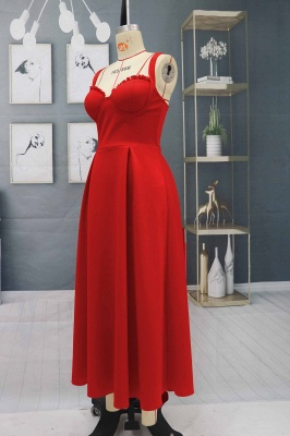 Charming Sleveless Red Homecoming Dress Sweetheart Evening Party Dress_4