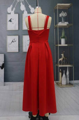 Charming Sleveless Red Homecoming Dress Sweetheart Evening Party Dress_8