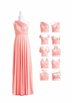 Peach Coral Multiway Infinity Dress_4