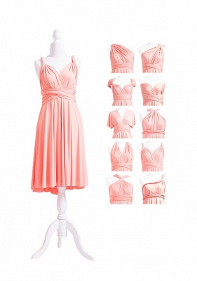 Peach Coral Multiway Infinity Dress_5