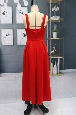 Charming Sleveless Red Homecoming Dress Sweetheart Evening Party Dress_7