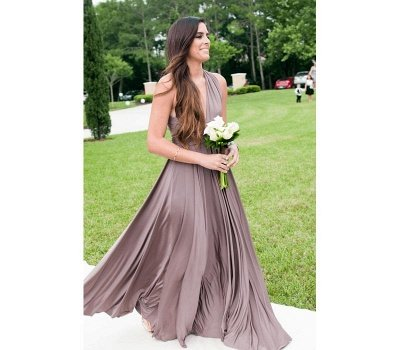 Taupe Infinity Bridesmaid Dress In   53 Colors_2