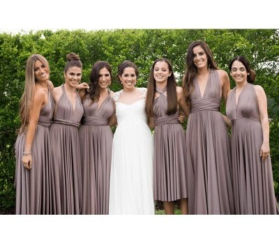 Taupe Infinity Bridesmaid Dress In   53 Colors_1