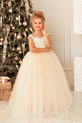 Nettes weißes Spitze-Tüll-Prinzessin kleines Mädchen Geburtstags-Weihnachtsfest-Kleid