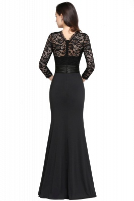 Elegant Zipper Back Evening Dress