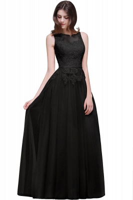 ATHENA   A-line Floor-Length Tulle Prom Dress With Lace_6