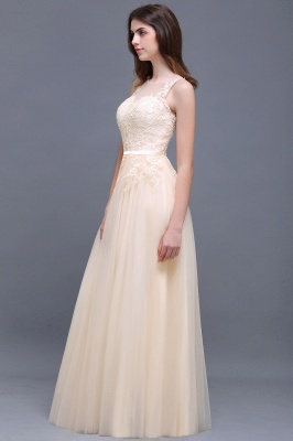 ATHENA | A-line Floor-Length Tulle Prom Dress With Lace_8