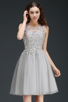 ANNA | A-line Short Modern Homecoming Dress With Lace Appliques_6
