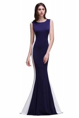 CAMILA | Mermaid Long Dark Navy Simple Prom Gowns_2