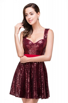 CHANA | A-line Sweetheart sequins  Prom Dress_5