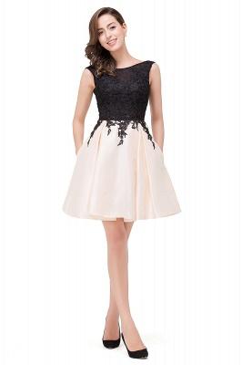 EVA | Apliques de encaje sin mangas una línea vestidos de baile cortos_12