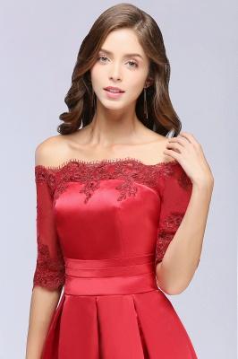 Une ligne de demoiselle d'épaule à l'épaule lacets appliques robes de soirée_9