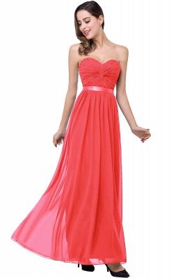 Elegantes A-Linie Chiffon Brautjungfer Kleid | Schulterfrei Brautjungfernkleider Bodenlang_1