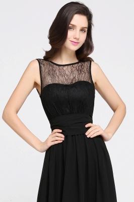 CHARLOTTE | una línea de piso de longitud gasa sexy vestido de fiesta negro_10