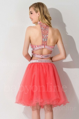 ELISE | Two-piece Halter Sleeveless Short Tulle Prom Dresses with Crystal Beads_6