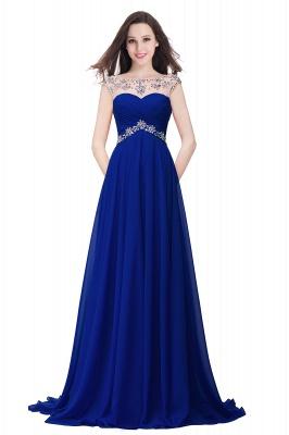 AINSLEY | A-ligne chérie robe de soirée en mousseline de soie avec cristal_3