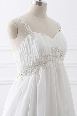 ALIVIA | Elegantes vestidos de novia de gasa de línea correas apliques con cordones vestidos de novia_6