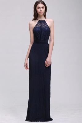 Pretty Floor longueur bleu marine Halter dentelle robe de bal_9