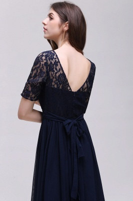 AUBRIELLE | A-line Scoop Chiffon Elegant Prom Dress With Lace_9