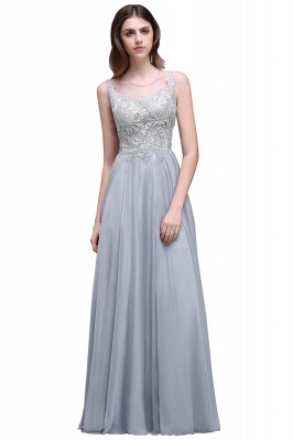 AUBRIELLA | A-line Floor Length Chiffon Prom Dress With Appliques_2