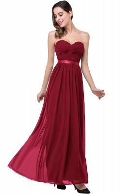 Elegantes A-Linie Chiffon Brautjungfer Kleid | Schulterfrei Brautjungfernkleider Bodenlang_2