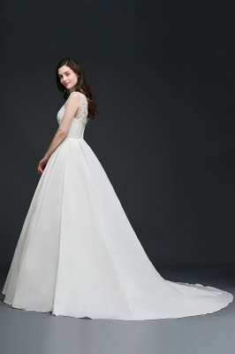 ELIZABETH | A-line Sleeveless Floor-length Chiffon Lace Wedding Dresses_5